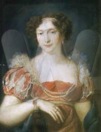 Pastel portrait around 1850, Schloss Callenberg