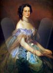 Grand Duchess Alexandra Iosifovna, née Princess of Saxe-Altenburg, wife of Grand Duke Konstantin Nikolaevich, 1859.